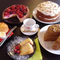 Homemade cakes at Wistow Cafe